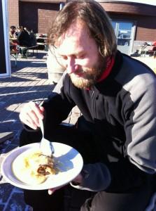 Matus has dessert
